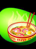 Asian noodle soup Royalty Free Stock Photo