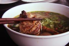 Asian noodle soup Stock Images