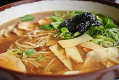 Asian Noodle soup with Chicken Royalty Free Stock Photos