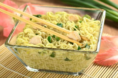 Asian Noodle Soup with Chicken Royalty Free Stock Images
