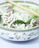 Asian noodle soup in a china Stock Photos