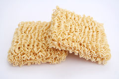 Asian noodles. Some asian noodles (mie noodles) on white background Stock Photos