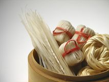 Asian noodles. Asian pasta assortment royalty free stock image