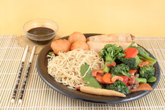 Asian Noodles And Vegetables Royalty Free Stock Image