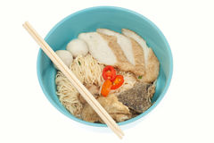 Asian noodles isolated Stock Images