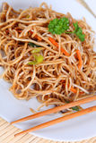 Asian noodles. With mixed vegetables Stock Photos