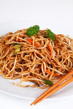 Asian noodles. With mixed vegetables Royalty Free Stock Photography