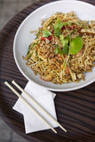 Asian noodles on a plate royalty free stock photography