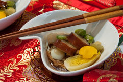 Asian Noodles with Smoked Duck Royalty Free Stock Image
