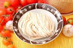 Asian noodles. Some asian somen noodles in a bowl stock photos
