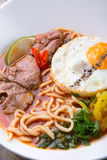 Asian noodles soup Royalty Free Stock Images