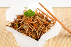 Asian noodles for take away Royalty Free Stock Photography