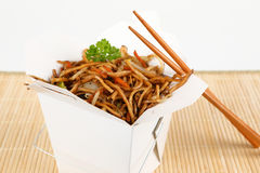 Asian noodles for take away Stock Photo