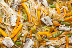 Asian noodles with vegetables Stock Photography