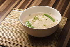 Asian noodles in white bowl Royalty Free Stock Photos