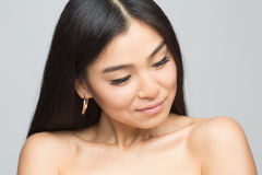 Asian nude lady in studio Stock Photography
