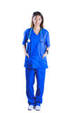 Asian nurse with hands in pocket Royalty Free Stock Images