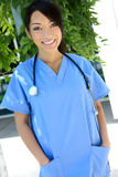 Asian Nurse at Hospital Royalty Free Stock Image