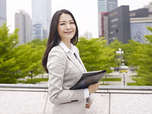 Asian office lady Stock Image