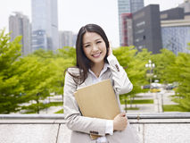 Asian office lady Royalty Free Stock Photography