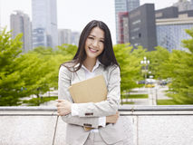 Asian office lady Royalty Free Stock Photo
