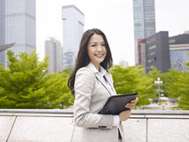 Asian office lady Royalty Free Stock Photos