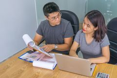 Office people working in the office. Asian office people working in the office stock photo