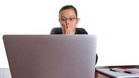Asian Office Worker With Surprise Expression II Stock Images