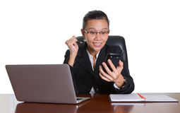 Asian Office Worker With Surprise Expression III Stock Photography