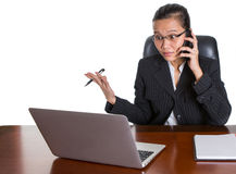 Asian Office Worker Under Pressure Expression II Royalty Free Stock Photos