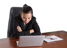 Asian Office Worker Under Pressure Expression IV Royalty Free Stock Images