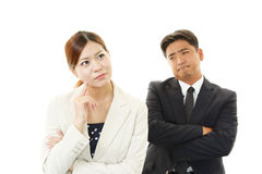 Asian office workers royalty free stock photos