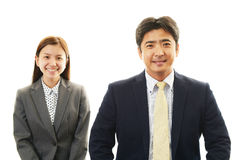 Asian office workers Royalty Free Stock Images
