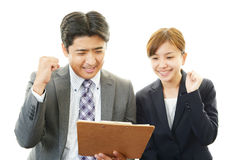 Asian office workers Royalty Free Stock Image
