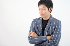 Asian officer portrait with emotion Stock Photography