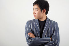 Asian officer portrait with emotion Stock Image