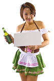 Asian Oktoberfest Waitress Stock Photo