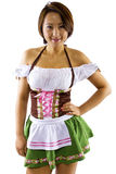 Asian Oktoberfest Waitress Royalty Free Stock Photography