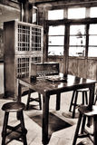 Asian old house interior Royalty Free Stock Photography