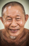 An asian old man happy face Stock Image