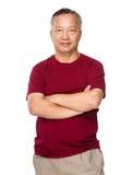 Asian old man Stock Image