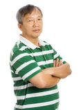 Asian old man portrait Stock Photo