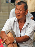 Asian old man. In Singapore in south east Asia royalty free stock photography