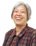 Asian old woman feel happy Royalty Free Stock Photography