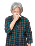 Asian old woman feel sneeze Royalty Free Stock Photos
