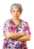 Asian old woman Stock Photography