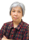 Asian old woman Stock Images