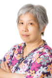 Asian old woman portrait Stock Photography