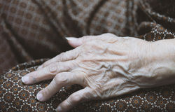Asian old woman 's hand Stock Photography