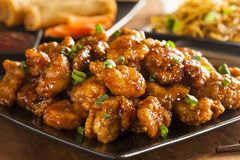 Asian Oranage Chicken with Green Onions Royalty Free Stock Photos